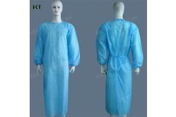 Vestido quirúrgico nonwoven PP desechable, vestido quirúrgico de SMS, ropa del aislamiento, vestido desechable, vestido paciente, juego paciente, juego del doctor