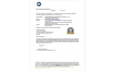 Certificado TUV de Jiangyin Kaxite